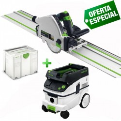 Sierra de Incisión TS 55 REBQ Plus-FS + Aspirador CTL 26E