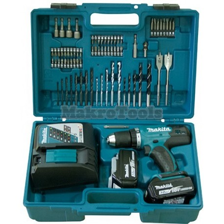Taladro combinado 18V 3,0Ah + kit accesorios 74 piezas