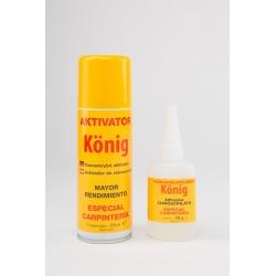 Adhesivo de Cianocrilato + Activador König Especial Madera