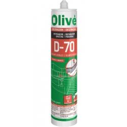 Sellante Acrílico OLIVÉ D-70 Blanco Reparador de grietas