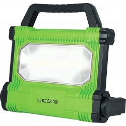 Foco LED Portatil Recargable 30W 2500 Lm. 6500K. Cargador Dual incluido