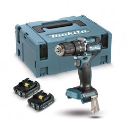 Taladro combinado BL 18V 2,0 Ah LXT 40 Nm DHP487RAJ 2 baterías 2,0 Ah, cargador rápido y maletín Makpac